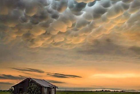 미국 텍사스, 유방적운 풍경