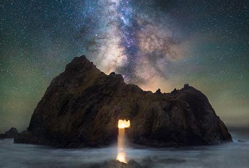 미국 캘리포니아, 달빛과 은하수