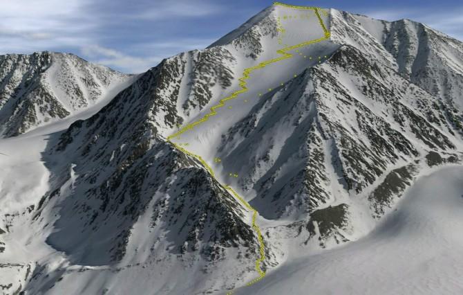 50년 논쟁에 마침표를 찍고 미국 알래스카 주 북극권에서 가장 높은 산으로 판명된 이스토 산. 항공 관측 결과와 산을 직접 오르내리면서 수집한 위성위치확인시스템(GPS) 데이터를 토대로 이스토 산을 3차원(3D)으로 시각화했다. - The Cryosphere 제공