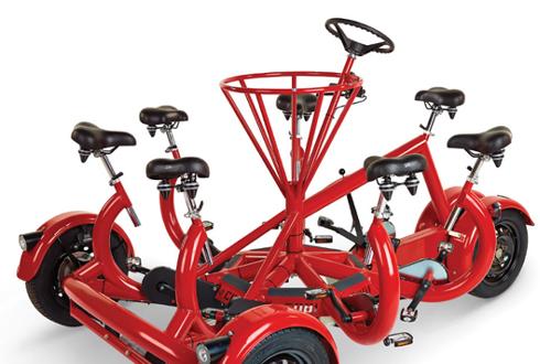세계 유일 7인승 자전거, 가격은 2만 달러
