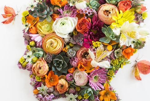 꽃으로 만든 초상화 작품, 인기