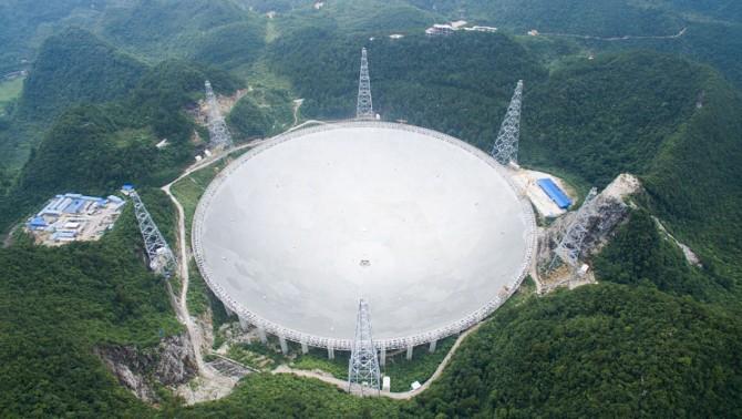 지난 4일 중국 구이저우성에 완공된 초대형 전파 망원경 톈옌