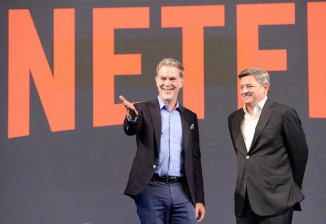 리드 헤이스팅스 CEO(왼쪽)과 테드 사란도스 CCO(오른쪽) 제공