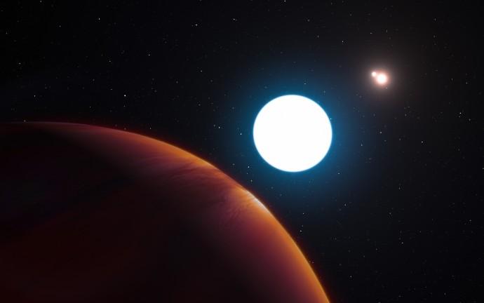 새로 발견된 행성에서(맨 앞)에서 볼 수 있는 하늘의 모습. - 유럽남방천문대(ESO) 제공