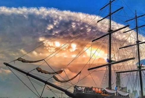 콜롬비아에서 촬영된, 압도적인 UFO 구름들