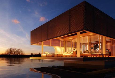 집값 너무 비싸다, '물에 뜨는 집' 개발