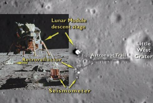47년 전의 달 착륙 지점 사진 '눈길'