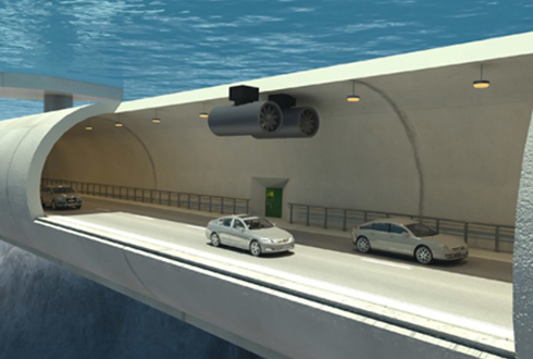 노르웨이의 물에 뜨는 터널 프로젝트 '화제'
