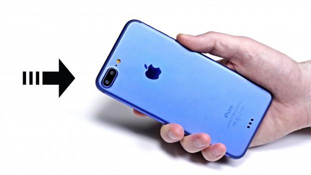 실제 디자인을 바탕으로 만들어진 것으로 추정되는 아이폰7 목업. 카메라 렌즈가 2개 달려 있다.   - Unbox Therapy 제공