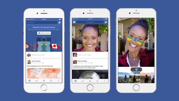 페이스북이 모바일 앱에서 동영상을 찍고 재미있는 필터 효과를 쉽게 넣을 수 있게 하는 기능을 테스트 중이다 - Techcrunch 제공