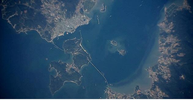 포맷변환_'EAV-3가 고도 18.5km에서 촬영한 전남 소록도 일대 전경 - 한국항공우주연구원 제공