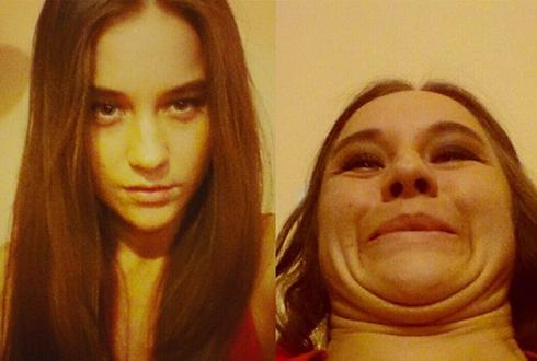 추녀와 미녀로 급변신하는 얼굴