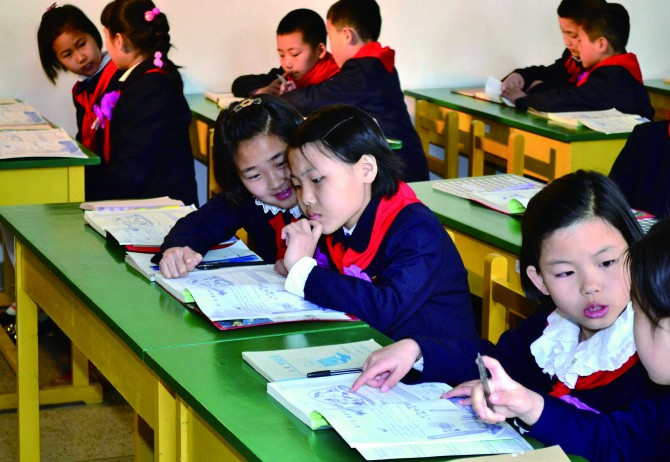 북한의 교육과정은 많은 선진국에서 채택하고 있는 나선형 구조로 개편되고 있다. - 연합포토 제공