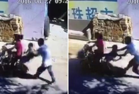 중국, 어린이 납치 장면 포착돼