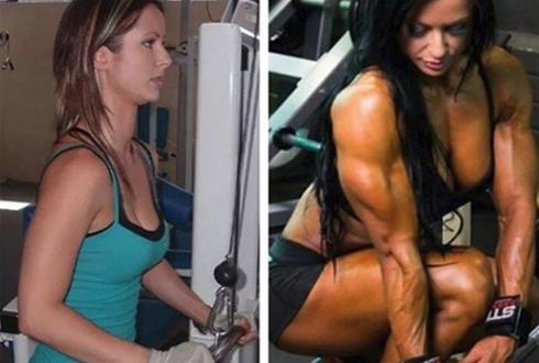 21살 31살, 운동 전후 비교 사진