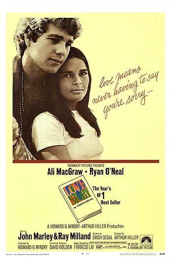 러브스토리(Love Story), 1970년작, 에릭 시걸 원작, 앨리 맥그로우 및 라이언 오닐 주연. - http://www.impawards.com/1970/love_story.html 제공