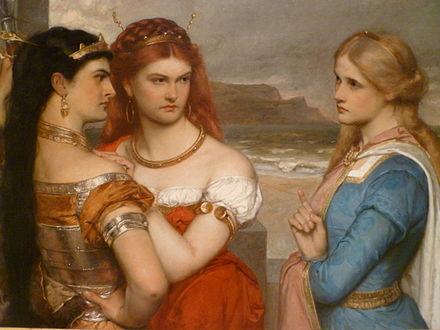 리어왕의 세 딸(Three Daughters of King Lear), 구스타브 포프, 1875-6년 작. - 푸에르토리코 폰세 미술관 제공