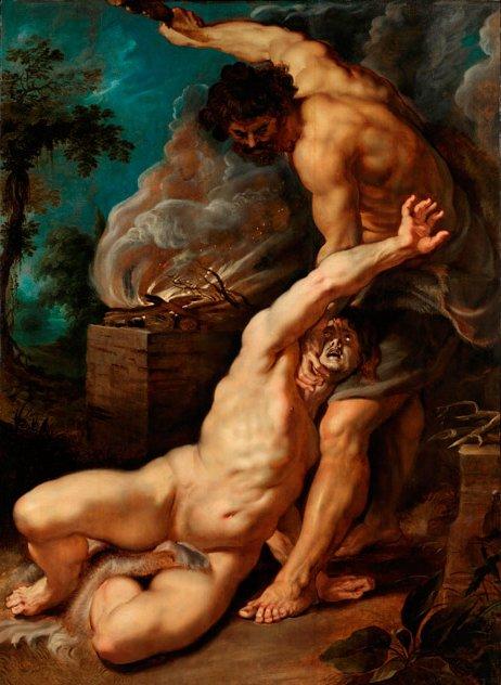 아벨을 내리치는 카인(Cain slaying Abel), 페테르 파울 루벤스(Peter Paul Rubens), 1608-9년 작. - 런던 코톨드 갤러리 제공