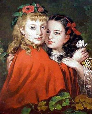 자매들(Sisters), 제임스 콜린슨(1825-1881) 작. - http://www.canvasreplicas.com/ 제공
