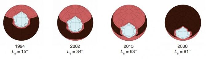 프랑스와 포르겟 프랑스 소르본대 연구원팀의 모델로 명왕성 표면의 얼음지형 변화를 예측할 수 있다. - 프랑스 소르본대 제공
