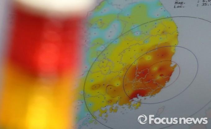 지진에 빨간불 켜진 한반도 - 포커스뉴스 제공
