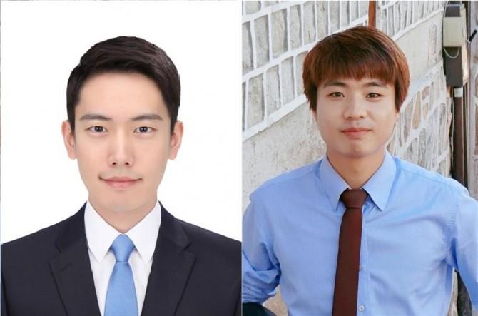 한국과학기술원 전산학부 임우상 박사과정생(왼쪽)과 유충국 박사과정생(오른쪽)이 2016 구글 PhD 펠로우로 선정됐다. - 한국과학기술원 제공