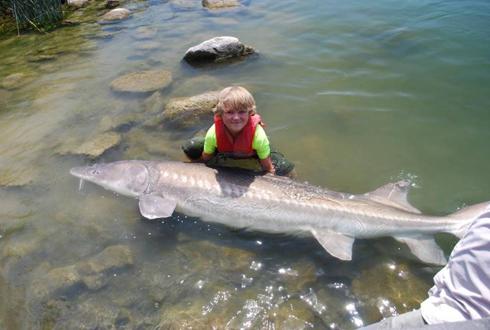 9살 아이가 잡은 대형 물고기