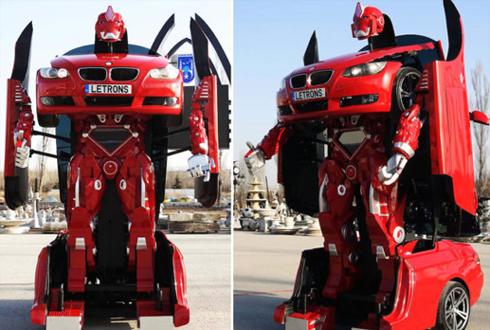 변신하는 '실제 크기 자동차 로봇' 등장