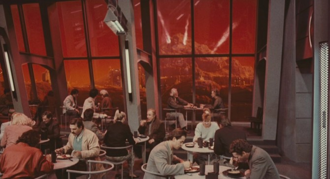 아놀드 슈왈츠네거 주연의 SF영화 토탈 리콜에 등장하는 화성 정착지의 모습 - 토탈리콜 제공