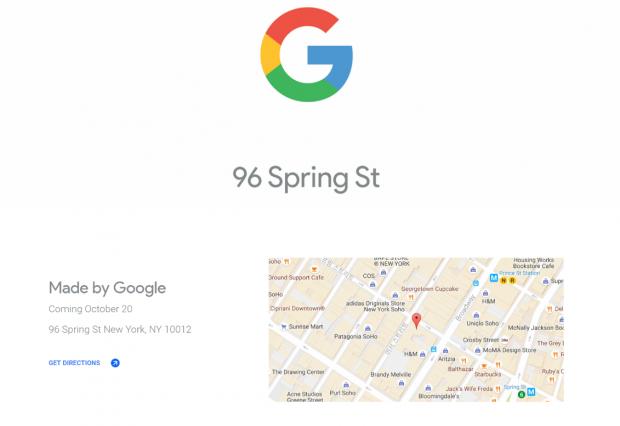 구글 하드웨어를 판매하는 팝업스토어