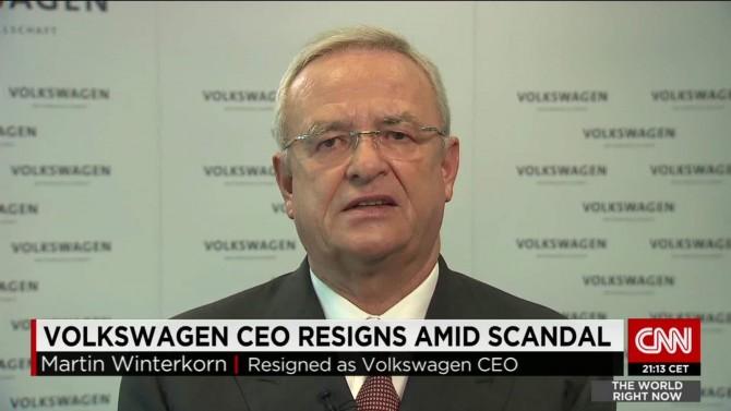 스캔들의 책임을 지고 지난해 물러난 폭스바겐의 CEO 빈터콘 - CNN 제공