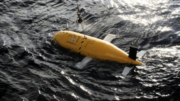 영국 국립해양센터(NOC)가 개발한 6000m 심해용 수중 드론인 '보티 맥포트페이스(Boaty McBoatface)'. 보티 맥포트페이스는 2018~2019년 사이 북극해 횡단에 도전할 예정이다. - 영국 국립해양센터 제공