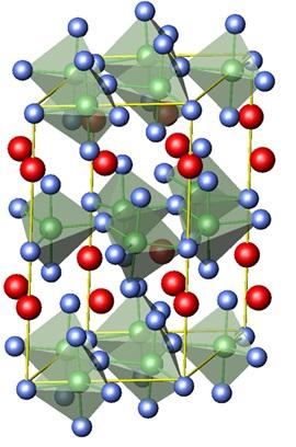 연구진이 실험에 사용한 '희토류 망간 산화물'의 구조. - IBS 제공