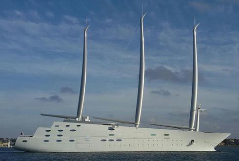 우주선? 거대 호화 요트 모습 드러내, 가격 4500억