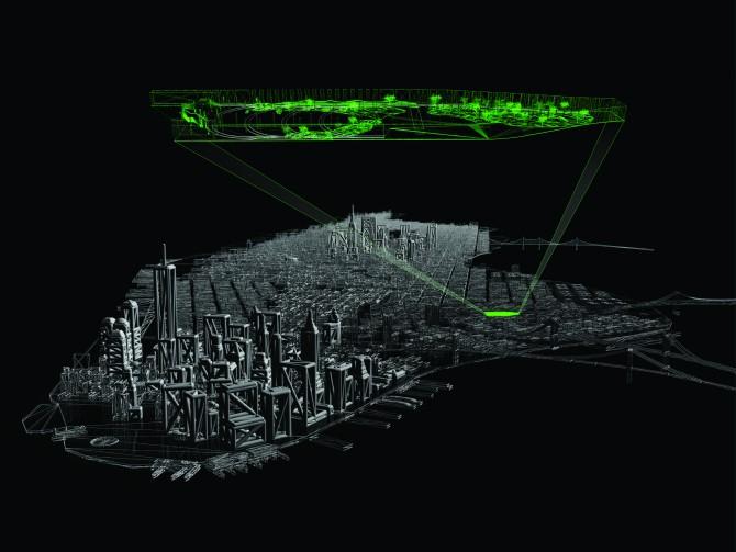 뉴욕 맨해튼에 있는 폐전차역(지하)을 지하공원으로 개조하는 로라인 프로젝트. - The Lowline 제공
