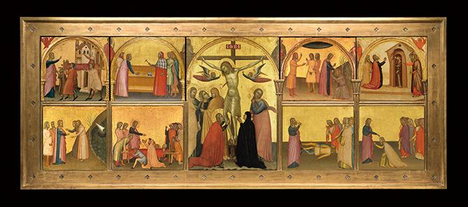 잉그리드 도브시 교수팀이 복원한 '세인트 존'. 아홉 개의 그림으로 구성돼 있다. - NC Museum of Art 제공