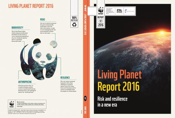 세계 야생동물기금협회가 발간한 지구 생명 보고소 2016년. - WEF 제공