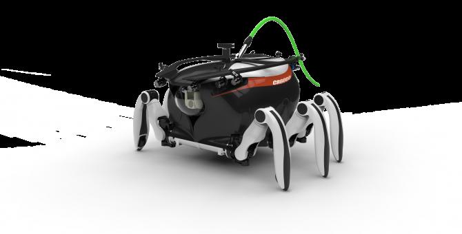 게나 가재처럼 기어 다닐 수 있는 세계 유일의 보행형 심해탐사로봇 '크랩스터6000' - 선박해양플랜트연구소 제공
