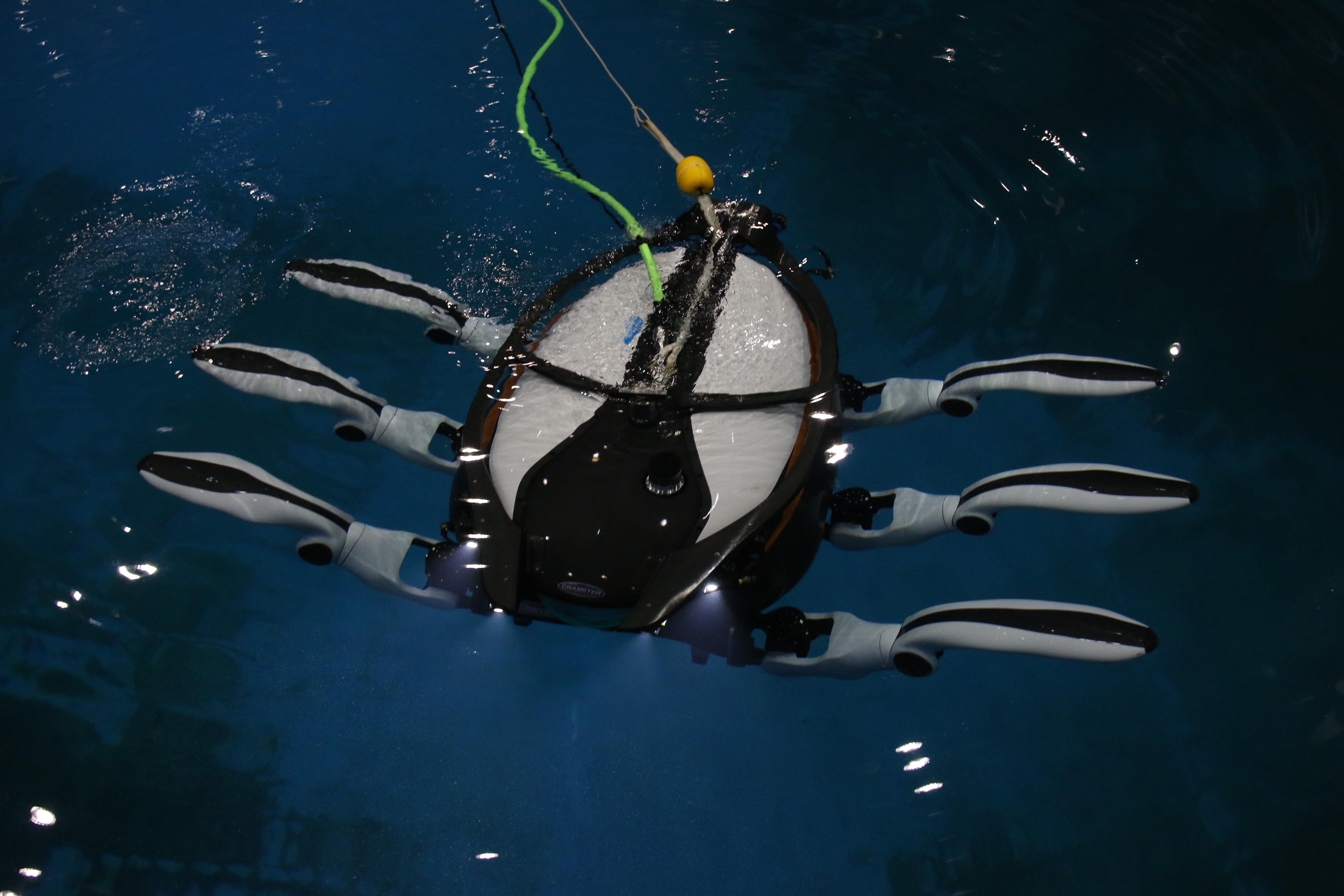 선박해양플랜트연구소가 개발한 심해 탐사용 로봇 '크랩스터6000'. - 변지민 기자 제공