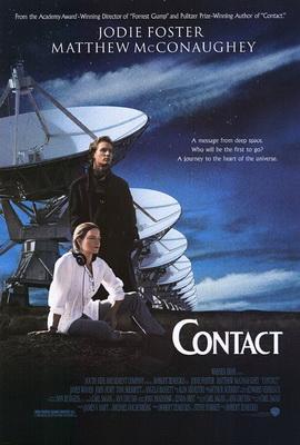 1997년 개봉한 영화 '콘택트' 포스터의 배경에는 안테나가 일렬로 배열돼 있는 젠스키전파망원경(VLA)이 등장한다. - 워너브라더스 제공