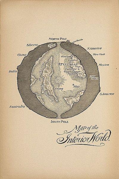 아트바타바르의 여신(The Godness of Atvatabar)이라는 윌리엄 브래드쇼의 소설은 지구 내부 공동에 있는 지하세계, 즉 아가르타(Agarta)의 이야기이다. 지상세계를 지배하는 은밀한 지하왕국의 이야기는 수많은 문화권에서 공통적으로 발견되는 무의식적 상징이다. - William Richard Bradshaw(W) 제공