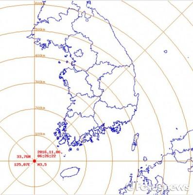 전남 신안군 흑산면 해역서 규모 3.5 지진…경주 여진 총 513회