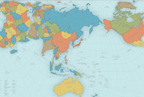 '가장 정확한 세계 지도' 눈길