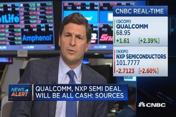퀄컴의 NXP 인수를 다룬 CNBC의 뉴스 화면 - CNBC 제공