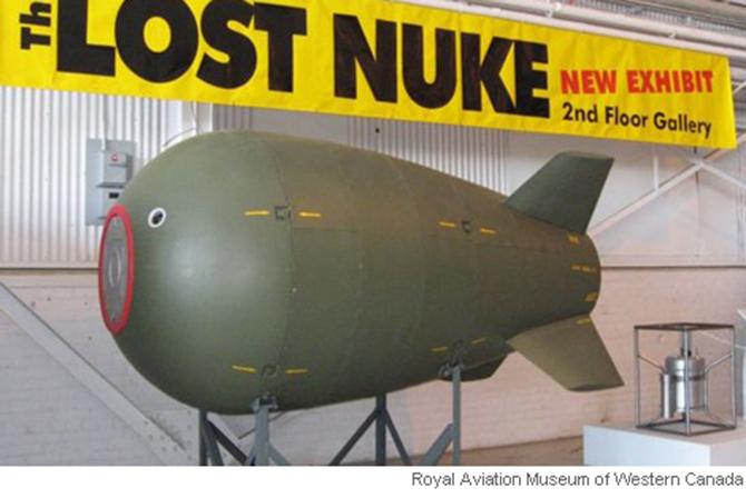 캐나다의 한 박물관에 있는 잃어버린 핵폭탄 모형 - 팝뉴스 제공