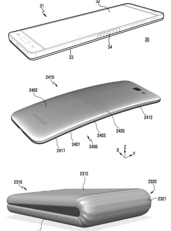 삼성전자의 폴더블폰 랜더링 이미지  - IT전문 매체 외신 샘모바일 제공