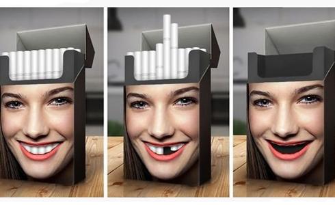 웃는 미녀가 등장하는 반 흡연 광고 '눈길'