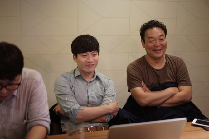 싱잇 김단열 이사(왼쪽)과 셰어앤케어의 황성진 대표(오른쪽) - 최호섭 제공