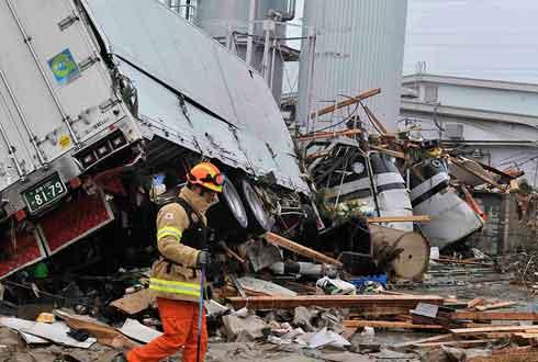 22일 후쿠시마 강진, 동일본대지진과 비교해보니