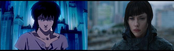 좌: '공각기동대' 쿠사나기 모토코 / 우: '공각기동대: 고스트 인 더 쉘' 소령 - IMDB 제공